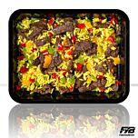 Gele rijst - Runderreepjes Teriyaki - Paprikamix (met kruiden) - BULK