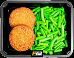 Vegetarische Burger - Sperzieboontjes (met kruiden)